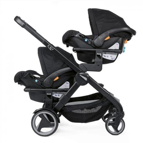 Coche Mellizo Fully Twin + Butaquitas KeyFit + Base Isofix